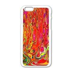 Background Texture Colorful Apple Iphone 6/6s White Enamel Case