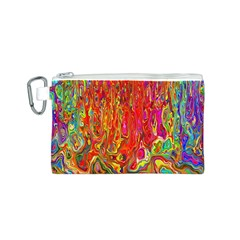 Background Texture Colorful Canvas Cosmetic Bag (s)