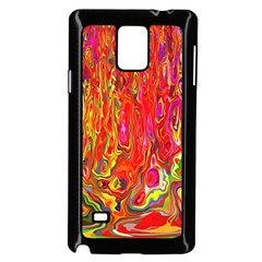 Background Texture Colorful Samsung Galaxy Note 4 Case (black)
