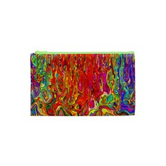 Background Texture Colorful Cosmetic Bag (xs)