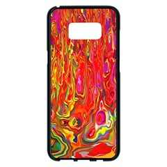 Background Texture Colorful Samsung Galaxy S8 Plus Black Seamless Case