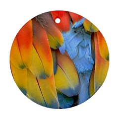 Spring Parrot Parrot Feathers Ara Ornament (round)