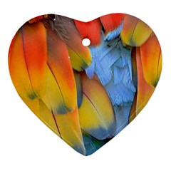 Spring Parrot Parrot Feathers Ara Ornament (heart)