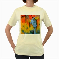 Spring Parrot Parrot Feathers Ara Women s Yellow T-Shirt