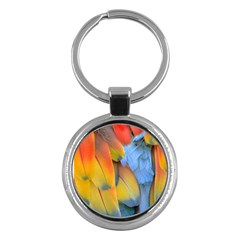 Spring Parrot Parrot Feathers Ara Key Chains (round)
