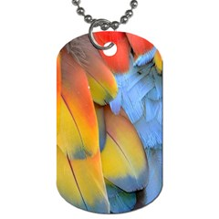 Spring Parrot Parrot Feathers Ara Dog Tag (one Side)