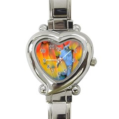 Spring Parrot Parrot Feathers Ara Heart Italian Charm Watch