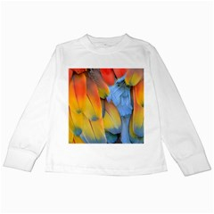 Spring Parrot Parrot Feathers Ara Kids Long Sleeve T Shirts