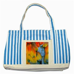 Spring Parrot Parrot Feathers Ara Striped Blue Tote Bag
