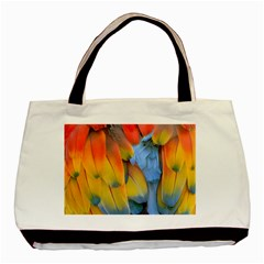 Spring Parrot Parrot Feathers Ara Basic Tote Bag (Two Sides)
