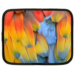 Spring Parrot Parrot Feathers Ara Netbook Case (large)