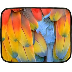 Spring Parrot Parrot Feathers Ara Double Sided Fleece Blanket (mini)