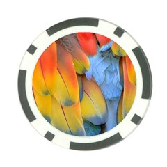 Spring Parrot Parrot Feathers Ara Poker Chip Card Guard (10 pack)