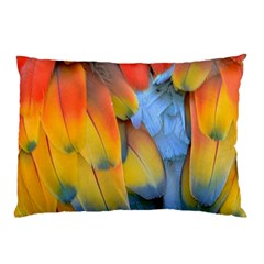 Spring Parrot Parrot Feathers Ara Pillow Case (Two Sides)