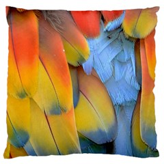 Spring Parrot Parrot Feathers Ara Large Cushion Case (one Side)