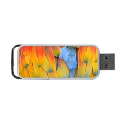 Spring Parrot Parrot Feathers Ara Portable Usb Flash (one Side)