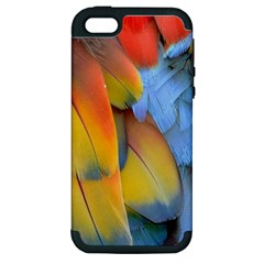 Spring Parrot Parrot Feathers Ara Apple Iphone 5 Hardshell Case (pc+silicone)