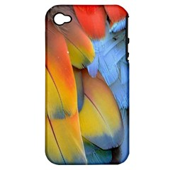 Spring Parrot Parrot Feathers Ara Apple Iphone 4/4s Hardshell Case (pc+silicone)
