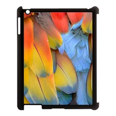 Spring Parrot Parrot Feathers Ara Apple Ipad 3/4 Case (black)
