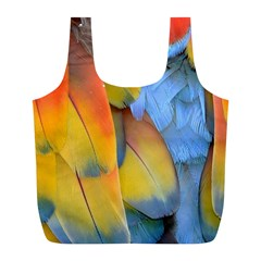 Spring Parrot Parrot Feathers Ara Full Print Recycle Bags (l)