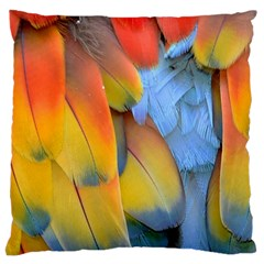 Spring Parrot Parrot Feathers Ara Large Flano Cushion Case (One Side)