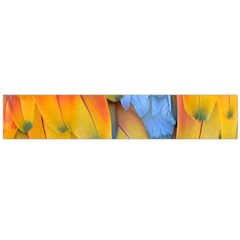 Spring Parrot Parrot Feathers Ara Flano Scarf (large)
