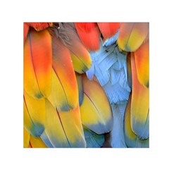 Spring Parrot Parrot Feathers Ara Small Satin Scarf (square)