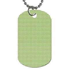 Gingham Check Plaid Fabric Pattern Dog Tag (One Side)