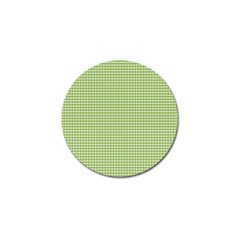 Gingham Check Plaid Fabric Pattern Golf Ball Marker (4 Pack)