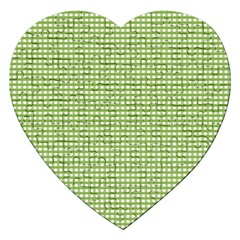 Gingham Check Plaid Fabric Pattern Jigsaw Puzzle (heart)