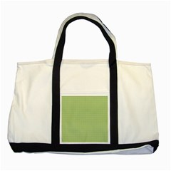 Gingham Check Plaid Fabric Pattern Two Tone Tote Bag