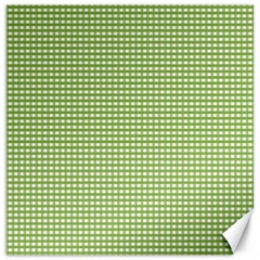 Gingham Check Plaid Fabric Pattern Canvas 16  X 16