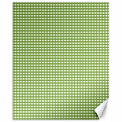 Gingham Check Plaid Fabric Pattern Canvas 16  X 20
