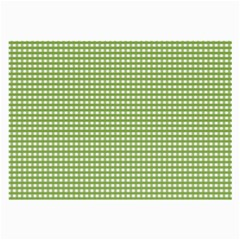 Gingham Check Plaid Fabric Pattern Large Glasses Cloth