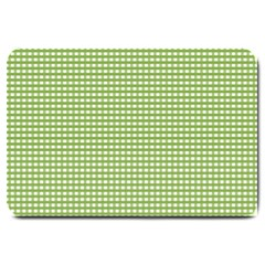 Gingham Check Plaid Fabric Pattern Large Doormat