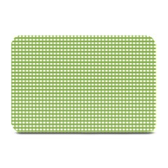 Gingham Check Plaid Fabric Pattern Plate Mats
