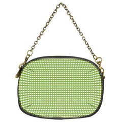 Gingham Check Plaid Fabric Pattern Chain Purses (two Sides)