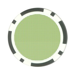 Gingham Check Plaid Fabric Pattern Poker Chip Card Guard (10 Pack)