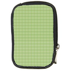 Gingham Check Plaid Fabric Pattern Compact Camera Cases