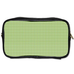 Gingham Check Plaid Fabric Pattern Toiletries Bags