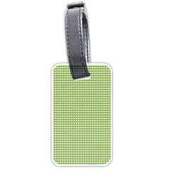 Gingham Check Plaid Fabric Pattern Luggage Tags (one Side)