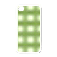Gingham Check Plaid Fabric Pattern Apple Iphone 4 Case (white)