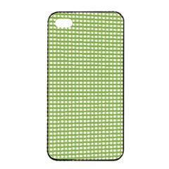 Gingham Check Plaid Fabric Pattern Apple Iphone 4/4s Seamless Case (black)