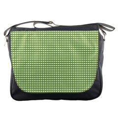 Gingham Check Plaid Fabric Pattern Messenger Bags