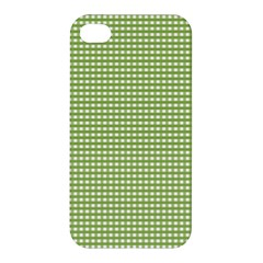 Gingham Check Plaid Fabric Pattern Apple Iphone 4/4s Premium Hardshell Case