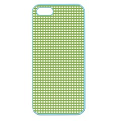 Gingham Check Plaid Fabric Pattern Apple Seamless iPhone 5 Case (Color)