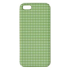Gingham Check Plaid Fabric Pattern Apple Iphone 5 Premium Hardshell Case