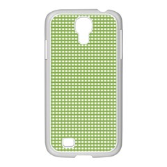 Gingham Check Plaid Fabric Pattern Samsung Galaxy S4 I9500/ I9505 Case (white)