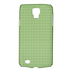Gingham Check Plaid Fabric Pattern Galaxy S4 Active