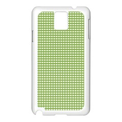 Gingham Check Plaid Fabric Pattern Samsung Galaxy Note 3 N9005 Case (white)